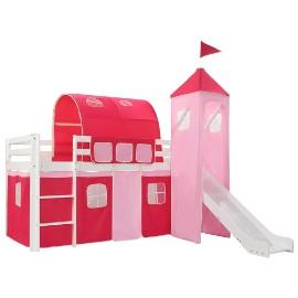 vidaXL Wysoka rama łóżka dziecięcego, zjeżdżalnia i drabinka 208x230cm 282710