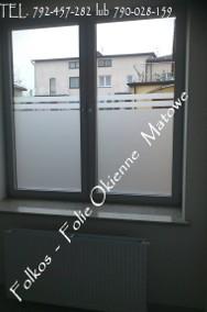 Zasłaniamy okno w łazience -Co na okno łazienkowe? Folkos folie matowe i dekoracyjne Oklejanie szyb Warszawa i okolice-2