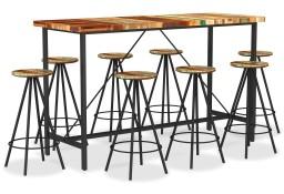 vidaXL 9-cz. zestaw mebli barowych, lite drewno z odzysku3053445