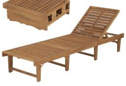 vidaXL Składany leżak, lite drewno akacjowe 44253