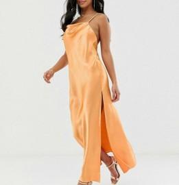 (38) ASOS/ Ekskluzywna, długa sukienka z wycięciem/ maxi sukienka plażowa/ jak NOWA