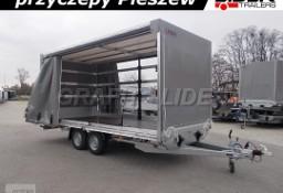 LT-048 przyczepa + plandeka 510x220x220cm, spedycyjna przyczepa ciężarowa , towarowa, firana dwustronna, DMC 3000kg