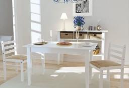 vidaXL Krzesła stołowe, 2 szt., białe, drewno kauczukowe i aksamit242030