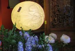 Piękna lampa stołowa; kształt kuli; średnica 50cm!