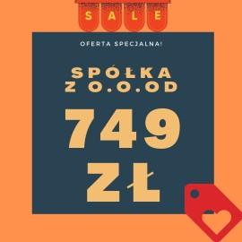 Zdecyduj się na spółkę z o.o. za 749 zł - sprawdź ofertę!