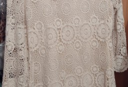(40/L) ZARA/ Szydełkowa /ażurowa sukienka z Madrytu