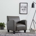 vidaXL Fotel, szary, sztuczna skóra248619