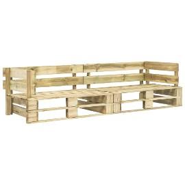 vidaXL Sofa ogrodowa z palet, 2 osobowa, drewno 276311