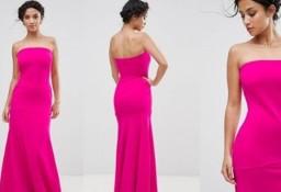 (38/M) Długa, różowa sukienka wieczorowa/suknia z Londynu/ NOWA