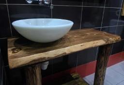 BLAT do umywalki na blatowej drewniany lite drewno