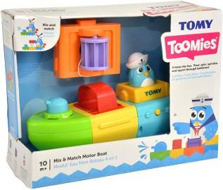 Łódka Nakręcana i Tryskająca Zabawka do Wody Wanny dla Dzieci