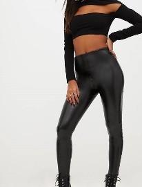 (38) Firmowe, czarne, skórzane legginsy, getry, rurki z Londynu/ jak NOWE