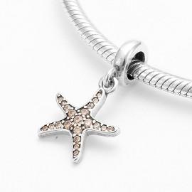 Pandora Charm zawieszka rozgwiazda muszla morska marynistyczna