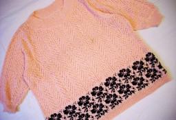 Pastelowy Sweter Włóczkowy Wzór 44 46