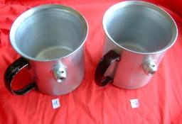 Garnek do gotowania mleka aluminiowy 1 litr   PRL  #2