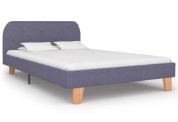 vidaXL Rama łóżka, jasnoszara, tkanina, 120 x 200 cm 280872