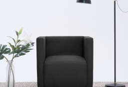 vidaXL Fotel kubik, czarny, tkanina282149