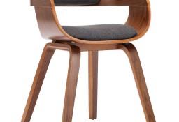 vidaXL Krzesło do jadalni, ciemnoszare, tkanina i gięte drewno283132