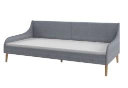 vidaXL Rama łóżka dziennego, tapicerowana tkaniną, jasnoszara247030