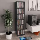 vidaXL Szafka na CD, szara, 21x20x88 cm, płyta wiórowa 800353