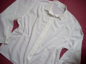 Canda C&A Biała Gładka Koszula Bluzka 44 46