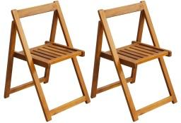 vidaXL Składane krzesła ogrodowe, 2 szt., lite drewno akacjowe 42660