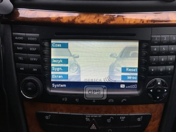Polskie Menu Mercedes Mapy NTG1 DVD W211 E W219 CLS Mapa 2019 E-klasa