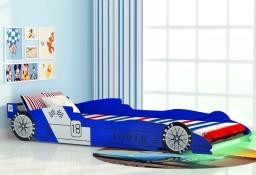 vidaXL Łóżko dziecięce w kształcie samochodu, 90 x 200 cm, niebieskie243937