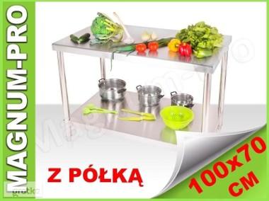 Gastronomiczny stół blat roboczy 100x70x85 z półką-1
