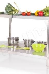 Gastronomiczny stół blat roboczy 100x70x85 z półką-2