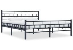 vidaXL Rama łóżka, czarna, stalowa, 180 x 200 cm 285280