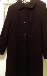 (XXL/ 44) Ekskluzywny, czarny płaszcz jesienny z Londynu/ jak NOWY
