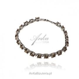 Elegancka bransoletka srebrna z sultanitem - kamieniem sułtanów