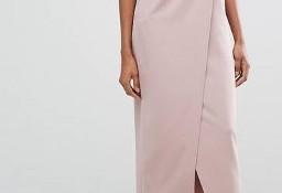 (38/M) Długa sukienka wieczorowa z odkrytymi ramionami z Londynu/ jak NOWY