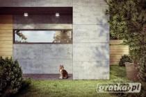 Elewacje z betonu architektonicznego. Montaż płyt betonowych Luxum.