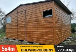 Garaż blaszany drewnopodobny schowek altana blaszana 5x4m