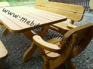 stół ogrodowy drewniany ławki komplet ogrodowy meble ogrodowe