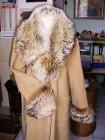 Płaszcz przejściowy kaszmir z lisem
