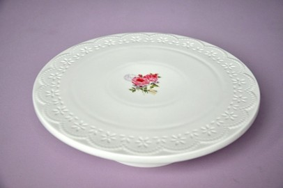 "Patera na tort, ciasto Belle Maison  ""Koronka"" - Róże"