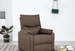 vidaXL Rozkładany fotel telewizyjny, brązowy, tapicerowany tkaniną248688