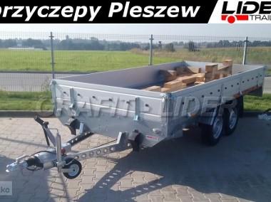 TM-087 przyczepa Transporter 3617 2C 1,5t, 365x171cm, ciężarowa, towarowa, burty aluminiowe, DMC 1500kg-1