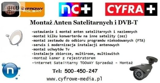 Montaż ANTEN SKÓRZEWO, PLEWISKA, DĄBRÓWKA TEL: 500-450-247