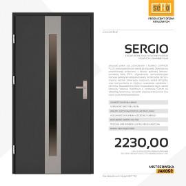 Drzwi wejściowe stalowe SETTO model SERGIO PLUS