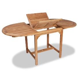 vidaXL Rozkładany stół ogrodowy, 110-160x80x75 cm, lite drewno tekowe 44684