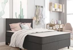 vidaXL Rama łóżka, szara, tapicerowana tkaniną, 160 x 200 cm287465
