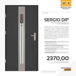 Drzwi wejściowe stalowe SETTO model SERGIO PLUS DIP