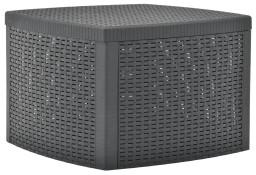 vidaXL Stolik boczny, antracytowy, 54x54x36,5 cm, plastikowy48775