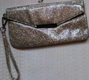 C&A/ Duży, złoty, brokatowy portfel, saszetka, torebka, kopertówka/ NOWA