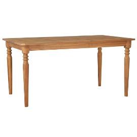 vidaXL Stół ogrodowy, 150x90x75 cm, lite drewno akacjowe 44255