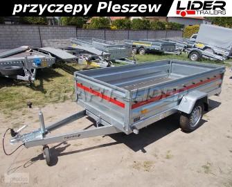 TM-100 przyczepa Prakti 2612, 263x125x46cm, lekka, towarowa, wysokie burty, DMC 750kg Lider Trailers